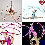 SS Cohen10 Colors Gymnastic Dance Ribbon Streamer 4M Dancing Baton Gym Rhythmic Ribbons with Wand Art Artistic Gymnastics Ballet Twirling Rod Stick for Women Girls Kids Baton Twirling