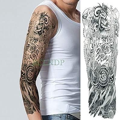 Etiqueta engomada del Tatuaje a Prueba de Agua 3pcs Flor del ángel ...