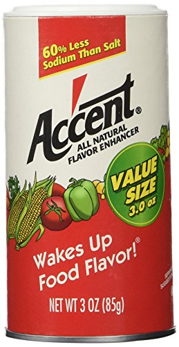 - ACCENT FLAVOR SEASONING SPICE ALL NATURAL FOOD ENHANCER 3 OZ