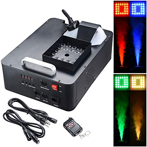 AW 1500W LED Smoke Effect Machine Stage Fogger Equipment Wired Control Disco -