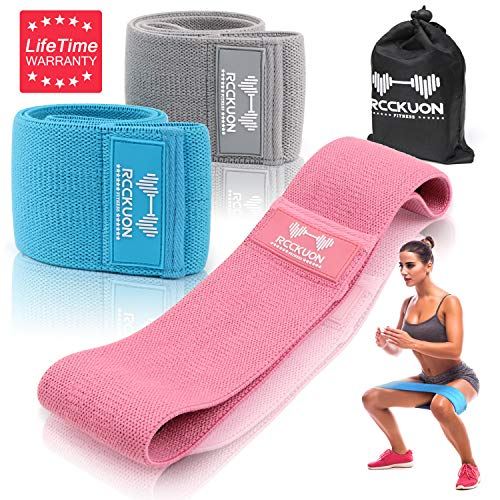 Resistance Bands for Legs and Butt, Exercise Band Hip Band Workout Band Stretch Fitness Bands Resistant Bands Resustance Bands Sports Mini Booty Bands Wide Resistance Loop Bands (Grey,Blue,Pink)