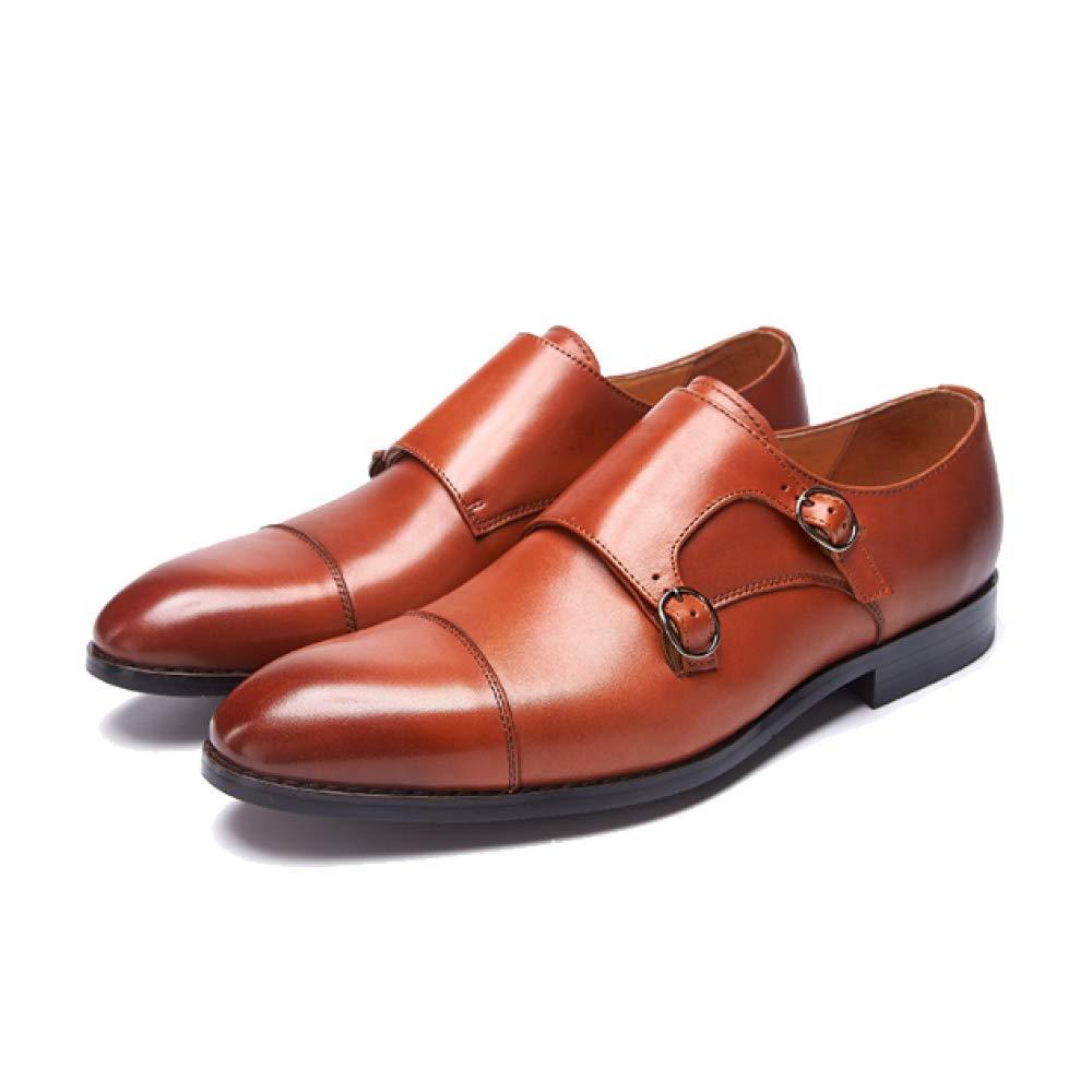 Männer England Schnallen Handmade Business Hochzeit Schuhe Schnallen England Mode Multicolor ROTdishBraun 336698