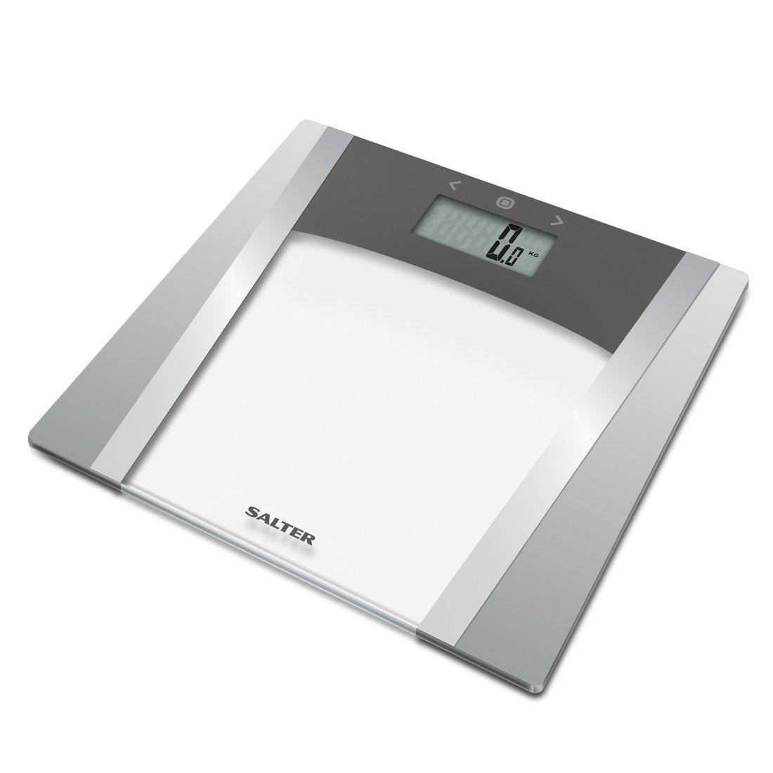 Salter Básculas de baño digitales, Medida Peso Porcentaje de grasa corporal Agua Masa muscular Masa IMC BMR, 10 Memoria de usuario, Grigio: Amazon.es: Salud ...
