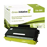Green Initiative Remanufactured High Yield Black Laser Toner Cartridge for Brother TN580/TN550