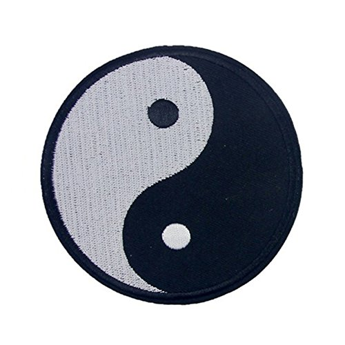Chinese Traditional Yin-Yang Symbol DIY Applique Embroidered Sew Iron on Patch yingyue]()