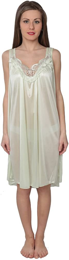 Beverly Rock Womens Tricot Sleeveless Long Nightgown