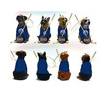 Edmonton Oilers Team Dog Christmas Ornaments Set Of 4