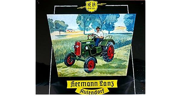 Cartel de chapa Bulldog Lanz Hermann Lanz aule Pueblo aprox ...