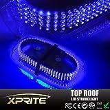 Xprite 240 LED Law Enforcement Emergency Hazard Warning Top Roof LED Mini Bar Strobe Light with Magnetic Base (Blue)