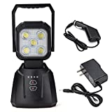 WEISIJI LED Work Light,15W 1200LM LED Spot Light Rechargeable Magnetic Base LED Flood Light for Garage Camping Workshop Emergency LED Search Light with SOS Function Car LED Light Bar,2 Years Warranty