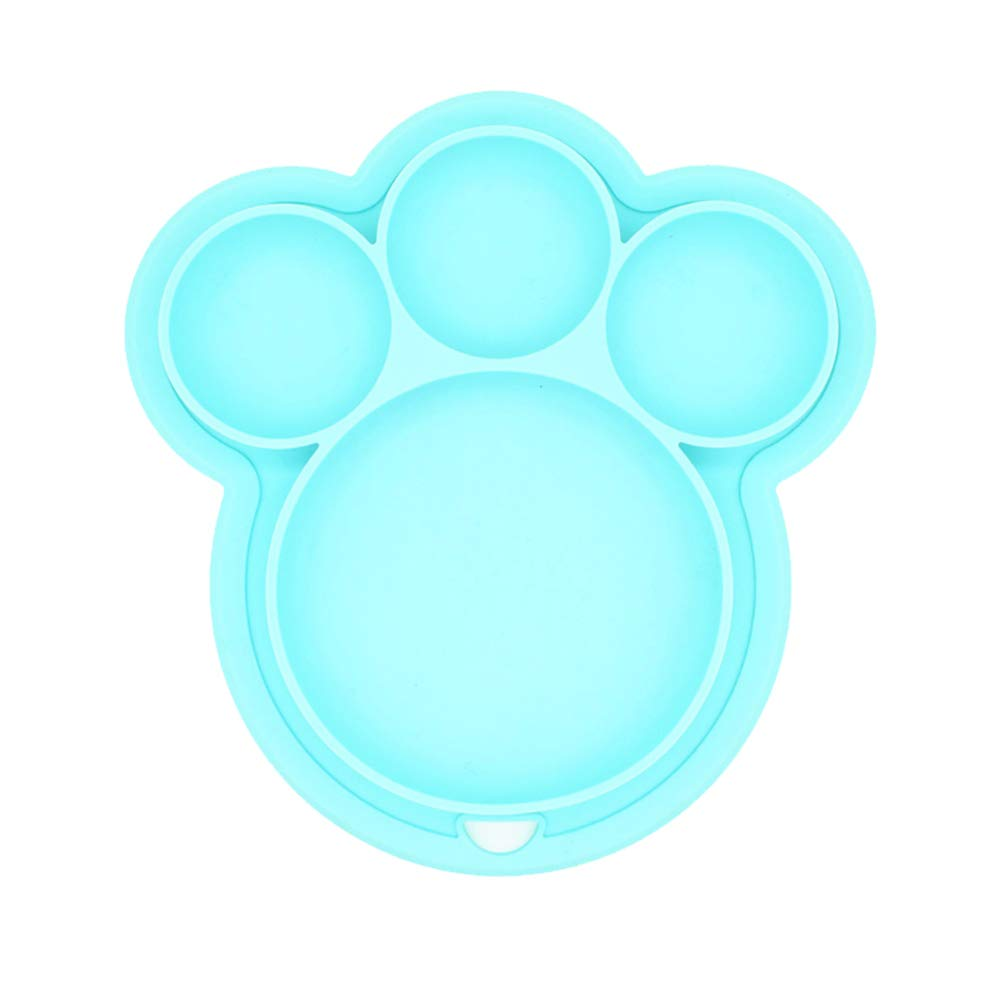 Kids Tableware Placemat Silicone Toddler Divided Suction Plate Non Slip Matsfor Baby Blue Naisidier