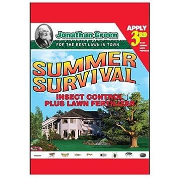 Jonathan Green 12015 Summer Survival Insect Control Plus Lawn Fertilizer,  13-0-3