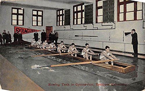 Rowing Tank in Gymnasium, Syracuse University Syracuse, New York, NY, USA Old Vintage Rowing Postcard Post - Syracuse Usa