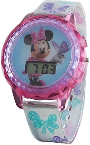 Disney Girl's Minnie Mouse Digital Light Up Watch MBT3727