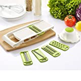 7pcs ABS Adjustable Mandoline Slicer Vegetable Fruit Cutter Multi...