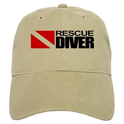 Diver Hat (CafePress - Rescue Diver Baseball Cap - Baseball Cap with Adjustable Closure, Unique Printed Baseball Hat)