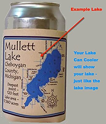 Kentucky Lake - 0078 in Liv/Mar/Cal, KY - Can Cooler Set of 6 - Nautical chart and topographic depth map.
