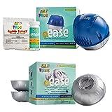 Spa Frog @ease Floating Sanitizing System and @ease Smart Chlor 3pk Refill Kit Bundled with Floating Buoy Üben Pool Thermometer