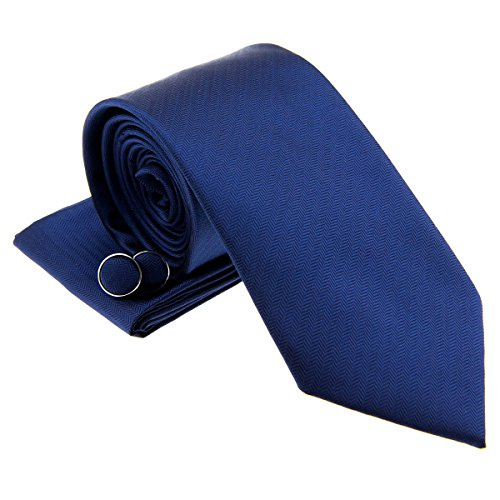 Navy Blue Square Cufflinks - 7