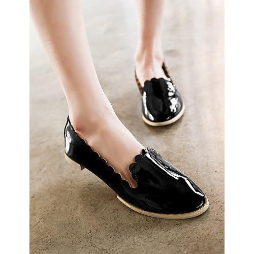 ZQ Zapatos de mujer - Tac¨®n Plano - Punta Cerrada / Comfort / Punta Redonda - Planos - Vestido / Casual - Semicuero - Morado / Plata , silver-us5.5 / eu36 / uk3.5 / cn35 , silver-us5.5 / eu36 / uk3.5
