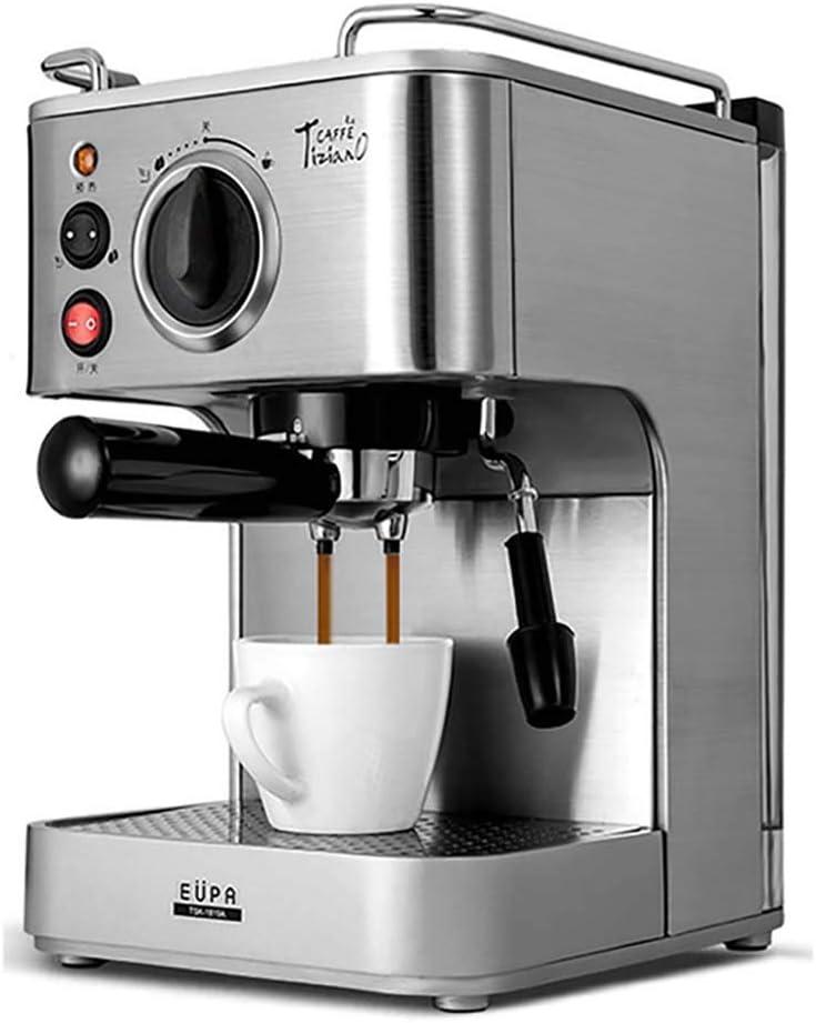 YONGRU Cafetera Expresso, Profesional Espresso Máquinas de café, 1,6 l Tanque de Agua extraíble, la función de calefacción, de Acero Inoxidable, 920 W con 19 Bomba de Bar,: Amazon.es: Hogar