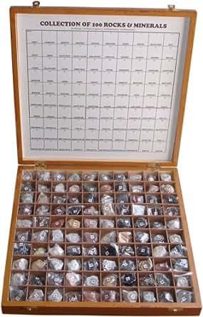 Amazon com: 100 Rare Rocks & Minerals Collection Kit in