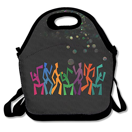 BakeOnion Dancer Family Lunch Tote Bag Lunch Box Neoprene Tote For Kids And Adults For Travel And Picnic School