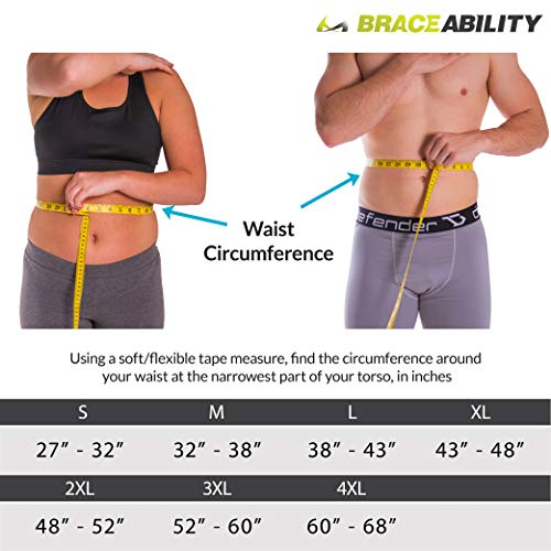 BraceAbility LSO Back Brace for Herniated, Degenerative & Bulging Disc Pain Relief, Sciatica, Spine Stenosis | Medical Lumbar Support Device for Post Surgery & Fractures with Hot/Cold Therapy (S) by BraceAbility (Image #1)