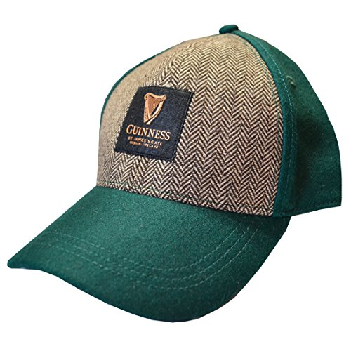 Baseball Guinness (Guinness Bottle Green Embroidered Tweed Baseball Cap)