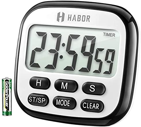 picture of Habor Kitchen Timer, 24-Hours Digital Timer [Multifunctional] - Clock