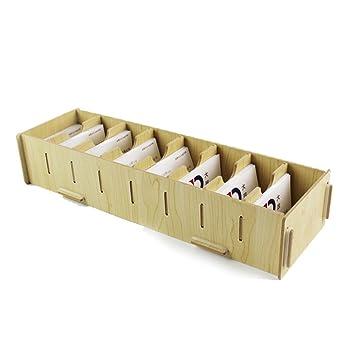 Boicircte De Rangement En Bois 8 Compartiments Amovibles Pour Carte Visite Gossipboynbsp