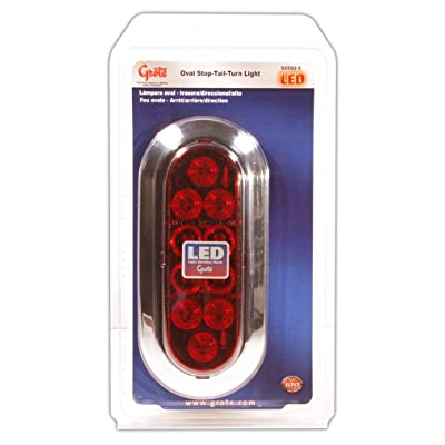 Grote 52592-5 Oval LED Stop Tail Turn Light (Chrome Trim Ring): Automotive