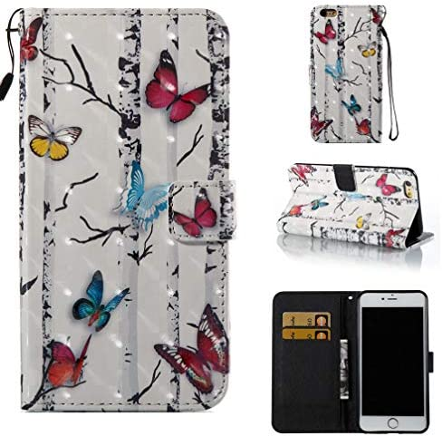 Pu Leather Printing Kickstand Compatible Butterflies product image