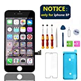Swgrdin 3D Touch Screen Assembly for iPhone 8 Plus Screen Replacement Black 5.5'', Display Digitizer Frame for iPhone 8 Plus LCD Replacement Tool Kits with Screen Protector, A1864, A1897, A1898