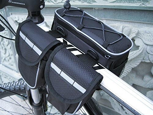 (Mocase Bike Bicycle Multi-function Frame Top Tube Pannier Bag with Rainproof Cover for Mountain Road Bike)