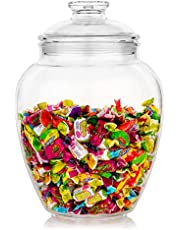 Modern Innovations 128-Ounce Candy & Cookie Jar with Lid, Premium Acrylic Clear Apothecary Jar, Wedding & Home Décor Centerpiece Cookie Candy Buffet Decorative Kitchen Storage Jar