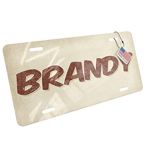 Metal License Plate BRANDY, Vintage style - Neonblond (Brandy Vintage)