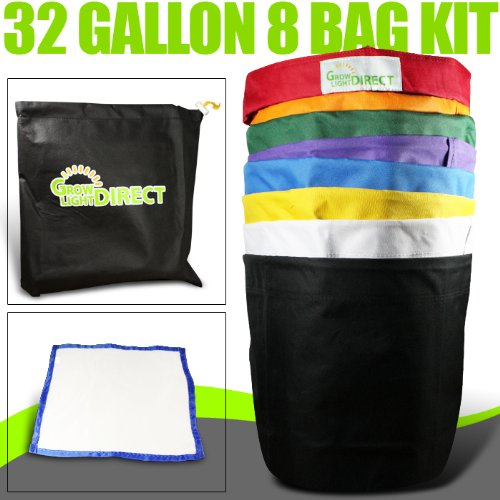 Bubble Hash Bags Ice Extractor 32 Gallon 8 Bag + micron by Growlightsdirect