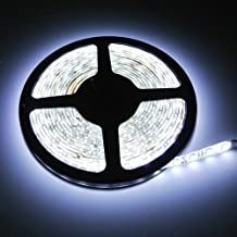 Super Bright Waterproof 12V 300 SMD LED Strip Flexible Light Strip 5050 Cool White 16.4 Foot / 5 Meter With Adhesive Back