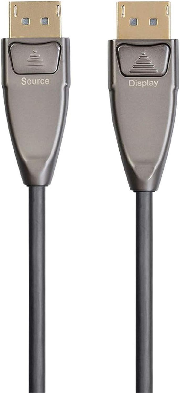 Monoprice DisplayPort Cable Fiber Optic 8K@30Hz SlimRun AV Series 5K@60Hz 4K@120Hz AOC 150 feet 32.4Gbps