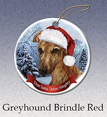 Amazoncom Define Naughty Brindle Greyhound Ornament Home