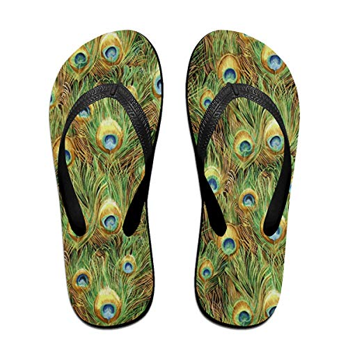 Cocoa trade Flip-Flops Northcott Peacock Paradiseportable Open Toe Slim Sandals for Men's Size:L