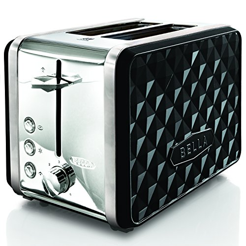BELLA BLA14335 Diamonds 2-Slice Toaster, Black