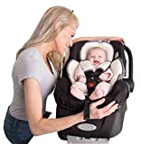 Alphabetz Alphabetz Reversable Head and Body Support and Strap Cover Set For Car Seats and Strollers, white, gray