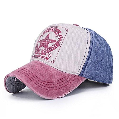 Peak Mall Five Star Vintage Trucker Hat Low Profile Adjustable Multicolor Twill Cotton Baseball Cap Headwear