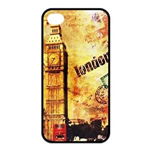 Personalized Creative Popular London's Big Ben Clock Tower Silicon iPhone 4/4S Case, Best Durable Big Ben Clock iPhone 4/4S Case Cover