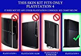 Sony-PlayStation-4-Skin-PS4-NEW-PURPLE-CHROME-MIRROR-system-skins-faceplate-decal-mod