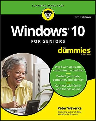 Windows 10 Seniors Dummies