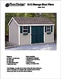 8' x 12' Gable Storage Shed Project Plans -Design #10812