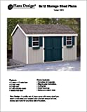 8x12 storage shed - 8' x 12' Gable Storage Shed Project Plans -Design #10812